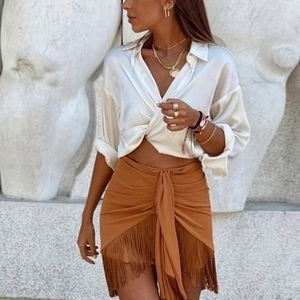 ZARA | Bloggers Fave Fringe Mini Skirt